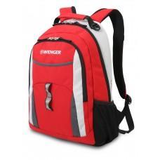 Рюкзак WENGER, красный/серый/серебристый, полиэстер 600D/хонейкомб, 32x15x45 см, 22 л