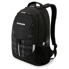 Рюкзак WENGER, черный/серый, полиэстер 600D/М2 добби, 32x14x45 см, 20 л