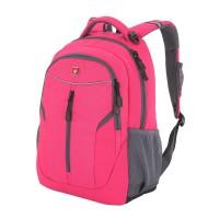 Рюкзак WENGER, розовый/серый, полиэстер 600D/420D, 32x15x45 см, 22 л
