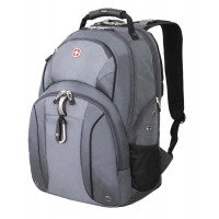 "Рюкзак WENGER,15"" серый/серебристый, полиэстер 900D/М2 добби, 34x16x48 см, 26 л"