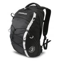 Рюкзак WENGER, черный/серый 29х19х47 см, 25 л