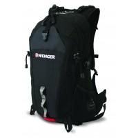 Рюкзак WENGER серый/черный 29х19х52 см, 28 л
