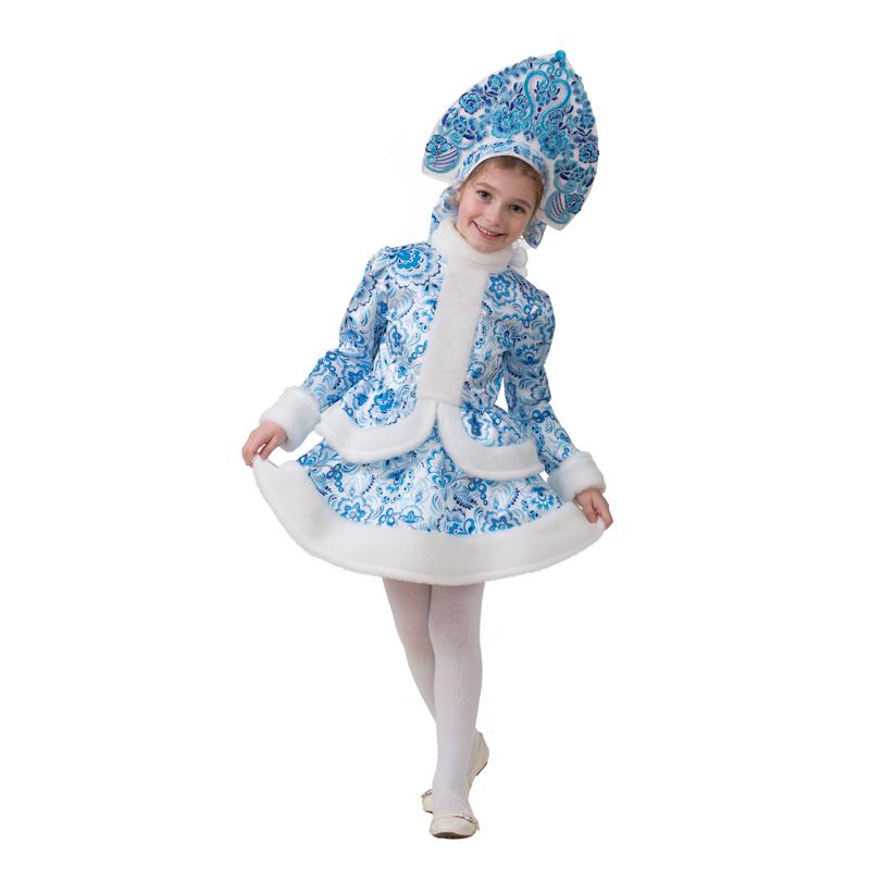 8420cc1dd233f8 Детский карнавальный костюм Снегурочка Гжель (Русский стиль) 1515 ...