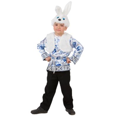 Карнавальный костюм Зайчонок Ванятка (Русский стиль) 5003