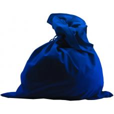 Мешок Деда Мороза синий, сатин М-1