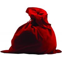 Мешок Деда Мороза красный, сатин М-2