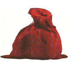 Мешок Деда Мороза красн+снежин, сатин М-3