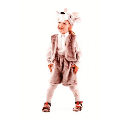 Карнавальный костюм Козлик серый (мех) р.28 148-2