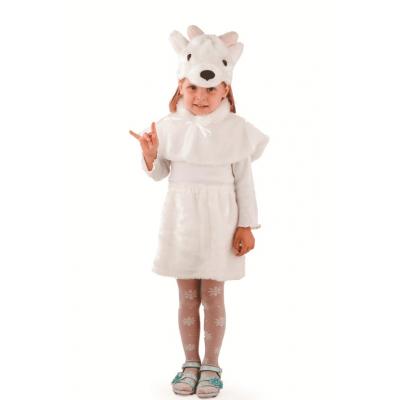 Карнавальный костюм Козочка белая (мех) р.28 166