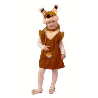 Карнавальный костюм Белочка с грибком (плюш) 253