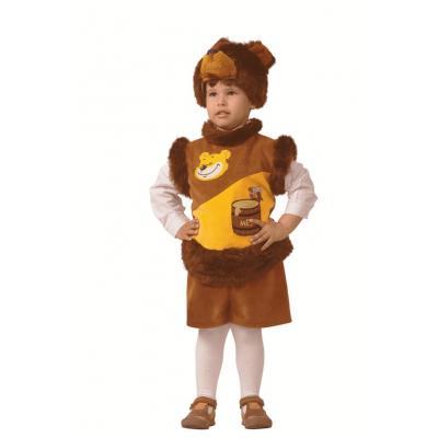 Карнавальный костюм Мишка с медом (плюш) р.28 265