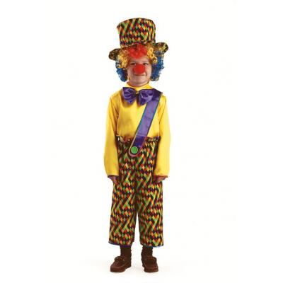 Карнавальный костюм Клоун Петя (текстиль) 8043