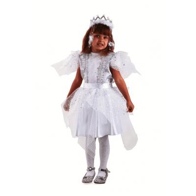 Карнавальный костюм Снежинка Серебряная (текстиль) 8044