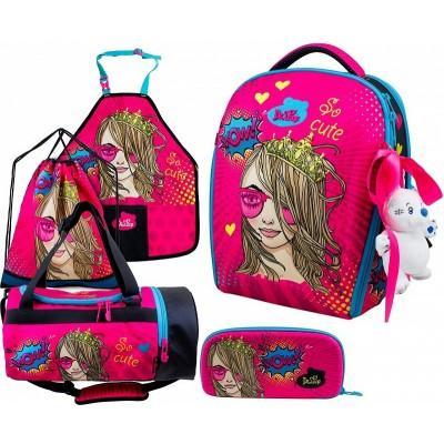 Ранец DeLune Full-set 7mini-022 + мешок + жесткий пенал + спортивная сумка + фартук для труда