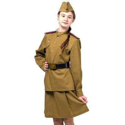 Детский костюм Офицер пехоты девочка хб