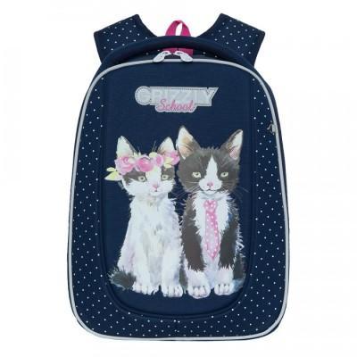 Рюкзак школьный Grizzly RAF-192-7 Кошки