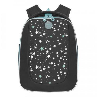 Рюкзак школьный Grizzly RAF-192-8 Звезды-Черный