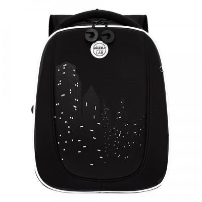Рюкзак школьный Grizzly RAF-193-9 Черный