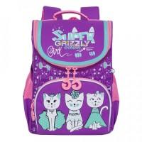 Рюкзак школьный Grizzly RAM-084-1 с мешком для обуви