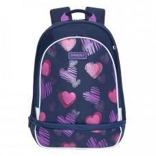 Рюкзак школьный Grizzly RG-169-2 Сердечки Синий