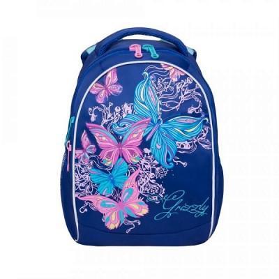 Рюкзак школьный Grizzly RG-868-4 Темно-синий