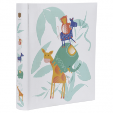 HENZO 98260 29х33/100 бел.стр Safari Kid детский фотоальбом в коробке + стикеры