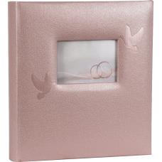 HENZO 22102 28x30.5/80 бел.стр. Perle (нюдовый розовый, свадьба) фотоальбом