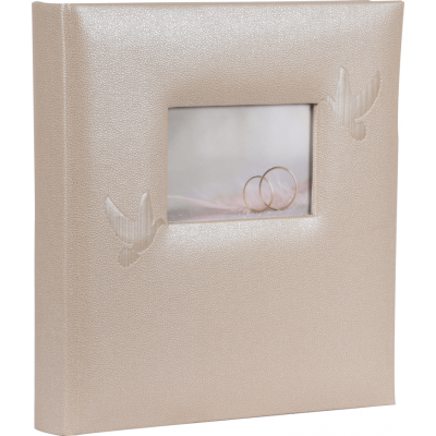 HENZO 22102 28x30.5/80 бел.стр. Perle (шампань, свадьба) фотоальбом