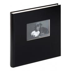 Walther FA-502-B 30x30/50 бел.стр. Сharm (черный с окошком) фотоальбом