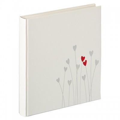 Walther UH-202 28x30.5/50 бел.стр.,2ил.стр. Bleeding Heart (белый,свадьба) фотоальбом