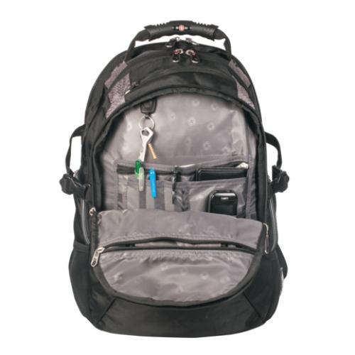 Рюкзак wenger чёрный/серый полиэстер 900d 35х23х48 см 39 л jo 1527 рюкзак коробка авто
