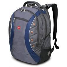 "Рюкзак WENGER, 15"",серый/синий 36х21х47 см, 35 л"