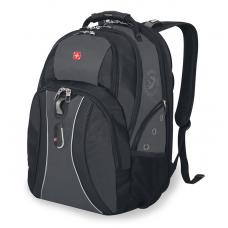 """Рюкзак WENGER 15"""" черный/серый 34х23х47 см 36 л"""