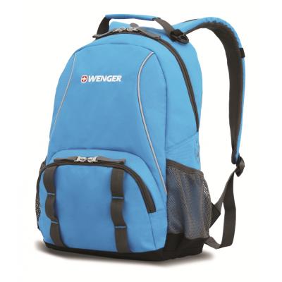 Рюкзак WENGER голубой-серый 32х14х45 см 20 л