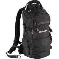 Рюкзак WENGER, чёрный/красный 23х18х47 см, 22 л