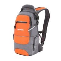 Рюкзак WENGER, серый/оранжевый/серебристый, полиэстер 1200D PU, 23х18х47 см, 22 л