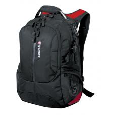 """Рюкзак WENGER 15"""" черный/красный 36х17х50 см 30 л"""