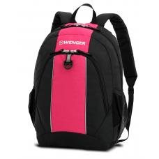Рюкзак WENGER, чёрный/розовый 32х14х45 см, 20 л