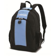 Рюкзак WENGER, чёрный/голубой 32х14х45 см, 20 л