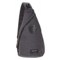 Рюкзак WENGER на одно плечо, cерый ткань Grey Heather 7 л