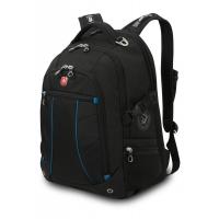 """Рюкзак WENGER 15"""" чёрный/синий 36x19x47см, 32 л"""