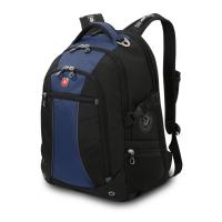 """Рюкзак WENGER,15"""", синий/чёрный 36x19x47 см, 32 л"""