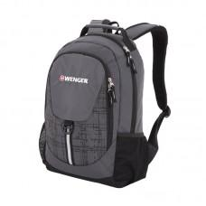 Рюкзак WENGER, серый/черный, полиэстер 600D, 32х14х45 см, 20 л