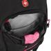 Рюкзак WENGER, черный/фукси, фьюжн/2 мм рипстоп, 32x15x46 см, 22 л