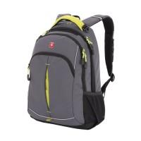 Рюкзак WENGER, серый/лаймовый, фьюжн/2 мм рипстоп, 32x15x46 см, 22 л