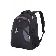 """Рюкзак WENGER, 15"""", черный/серый, полиэстер, 34х17х47, 32 л"""