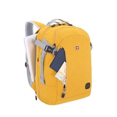 Рюкзак WENGER 15'', желтый, ткань Grey Heather, 31x20x47 см, 29 л