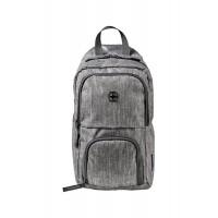 Рюкзак WENGER с одним плечевым ремнем, темно-cерый, полиэстер, 19х12х33 см, 8 л