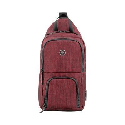 Рюкзак WENGER с одним плечевым ремнем, бордовый, полиэстер, 19х12х33 см, 8 л