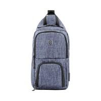 Рюкзак WENGER с одним плечевым ремнем, синий, полиэстер, 19х12х33 см, 8 л